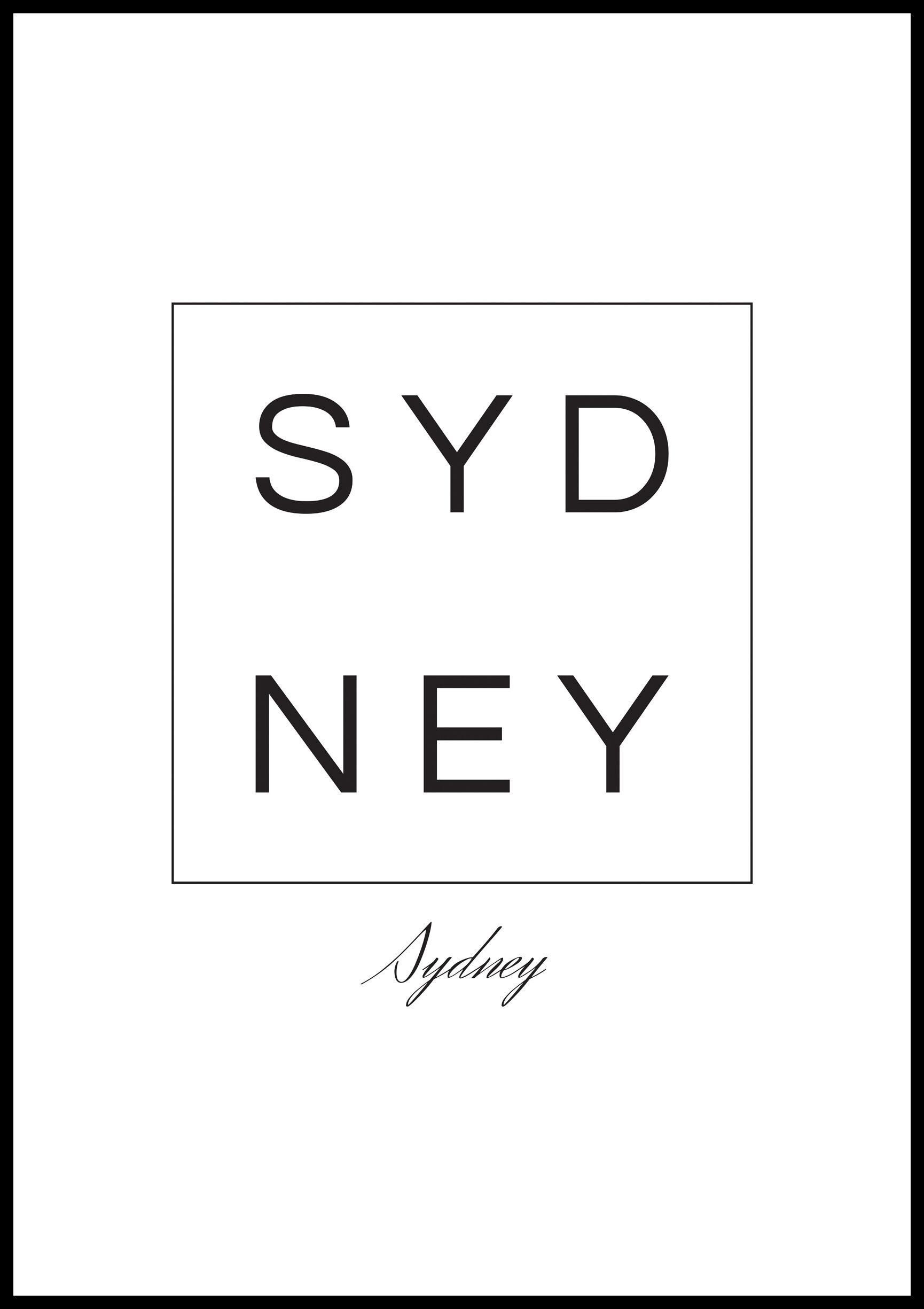 Bildverkstad Sydney - Posteri