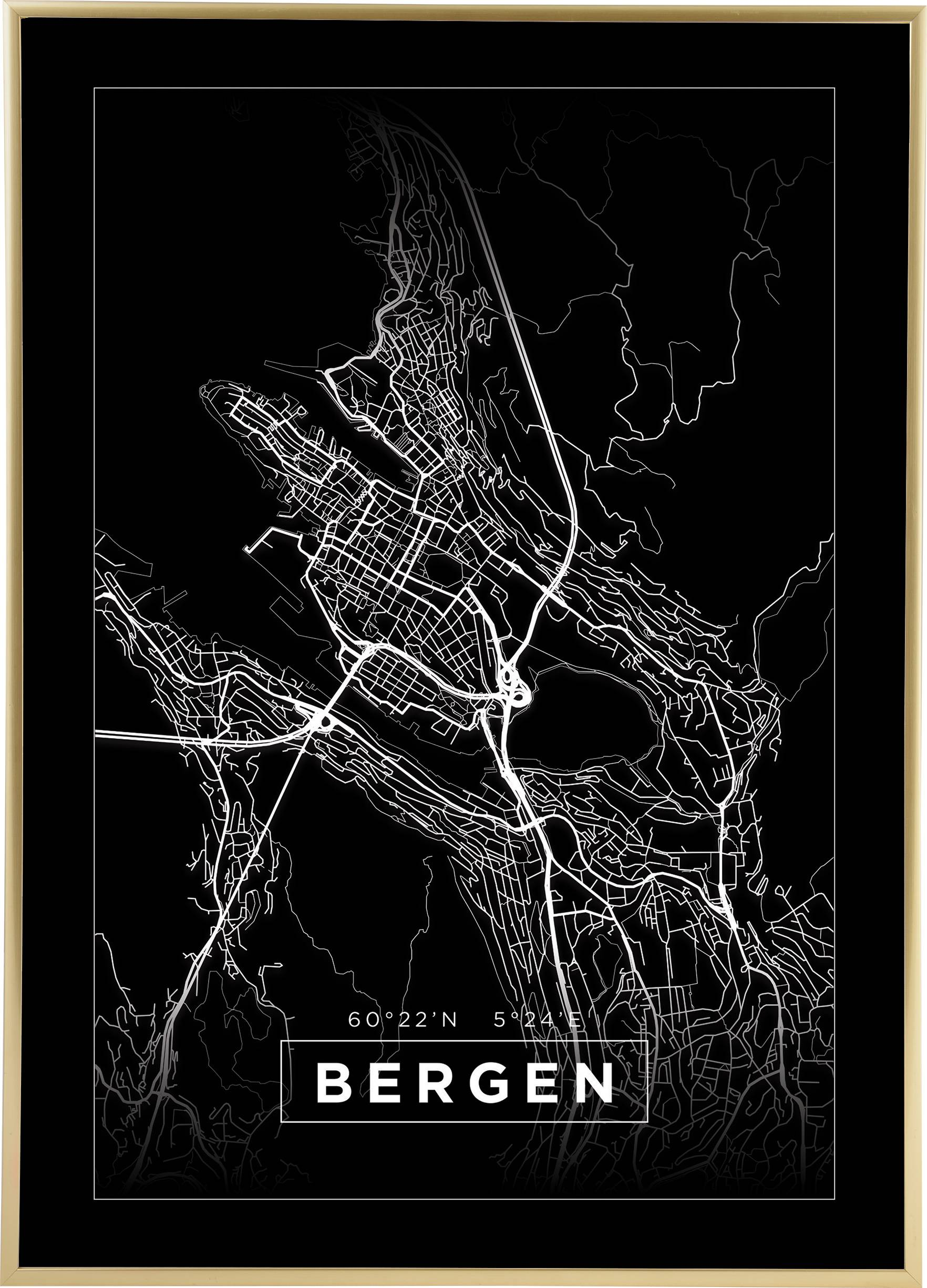 Bildverkstad Kartta - Bergen - Musta