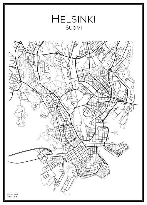 Madde Design Kartta Helsinki (Helsingfors)