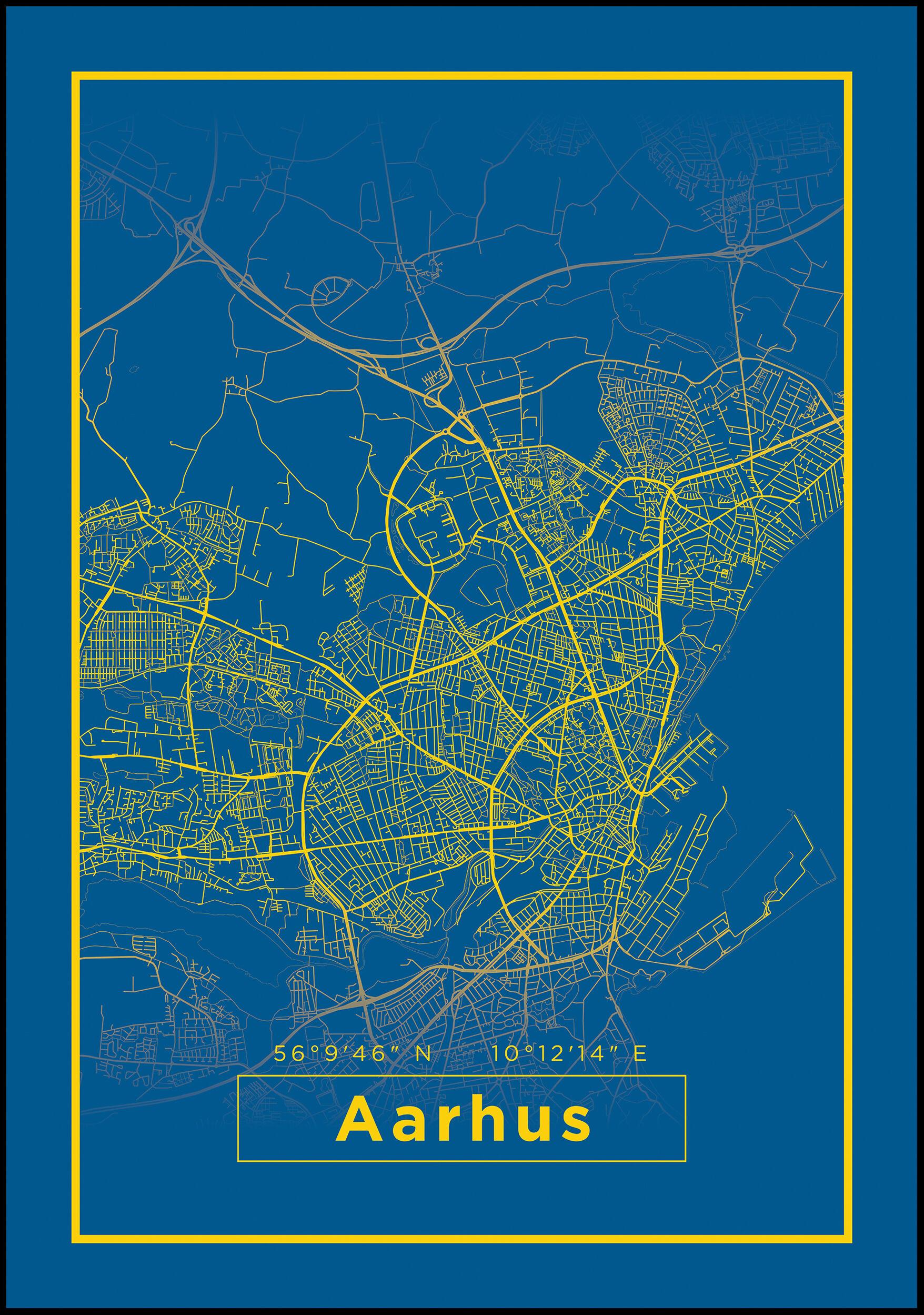 Bildverkstad Map - Aarhus - Blue
