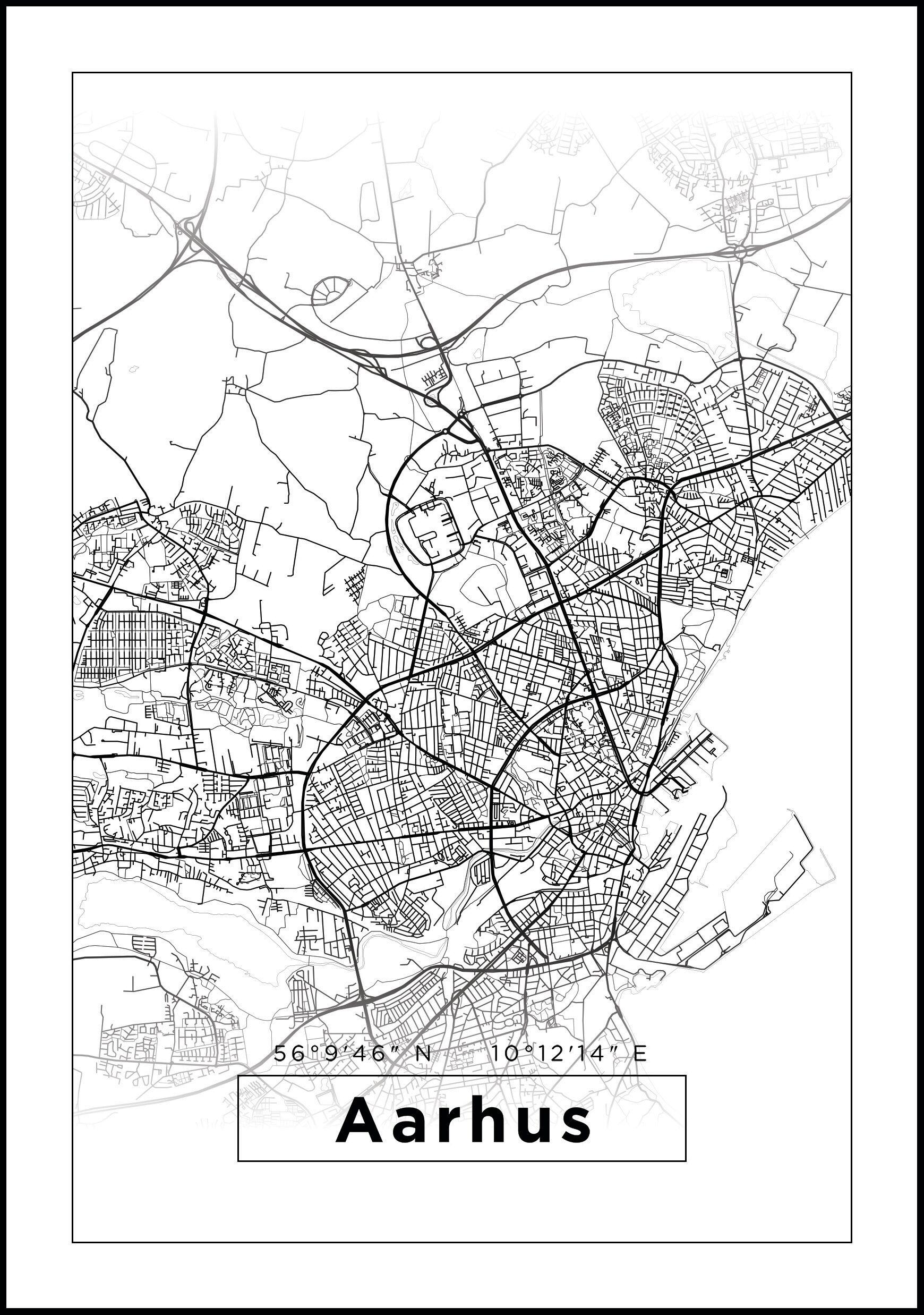 Bildverkstad Map - Aarhus - White