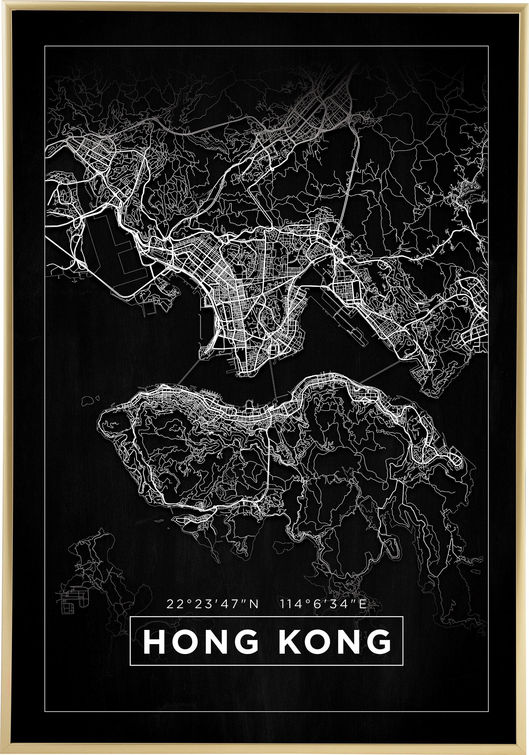 Bildverkstad Map - Hong Kong - Black