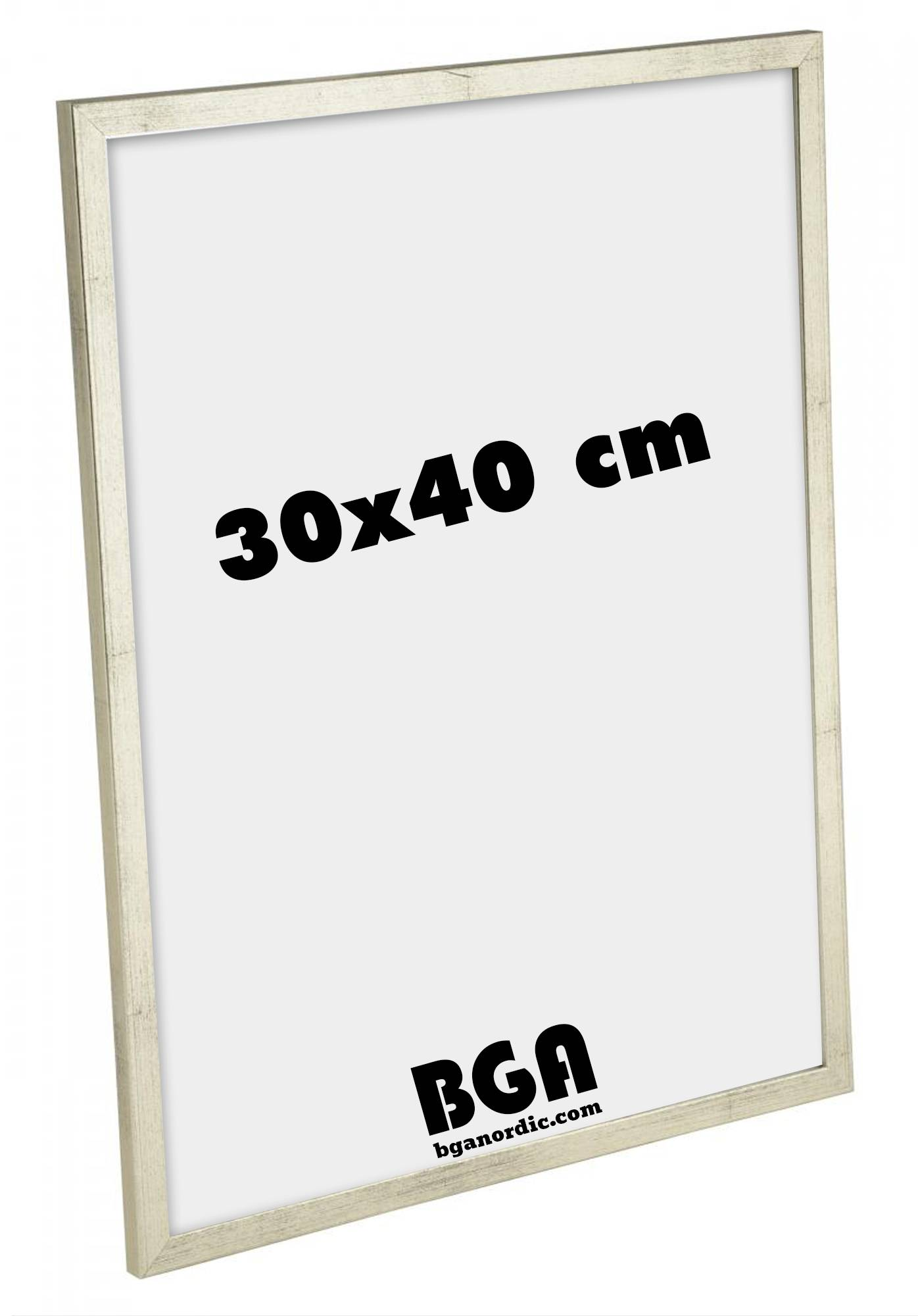 Estancia Galant Pleksilasi Hopeanvärinen 30x40 cm