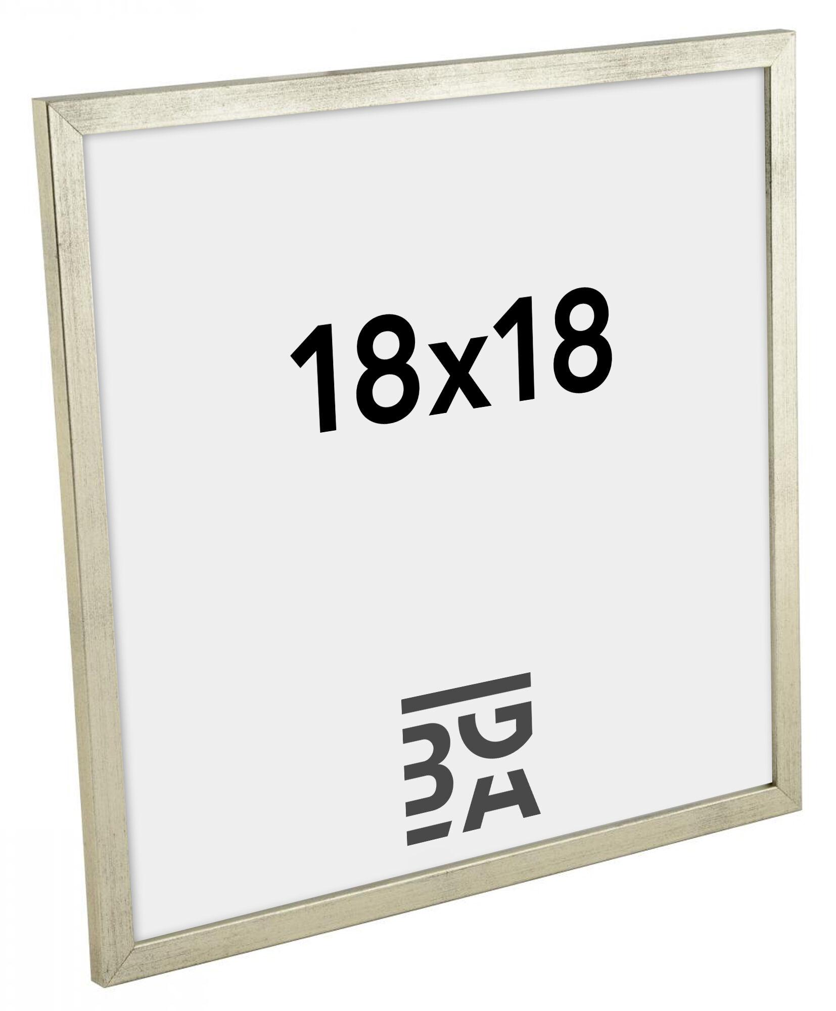 Estancia Galant Hopeanvärinen 18x18 cm