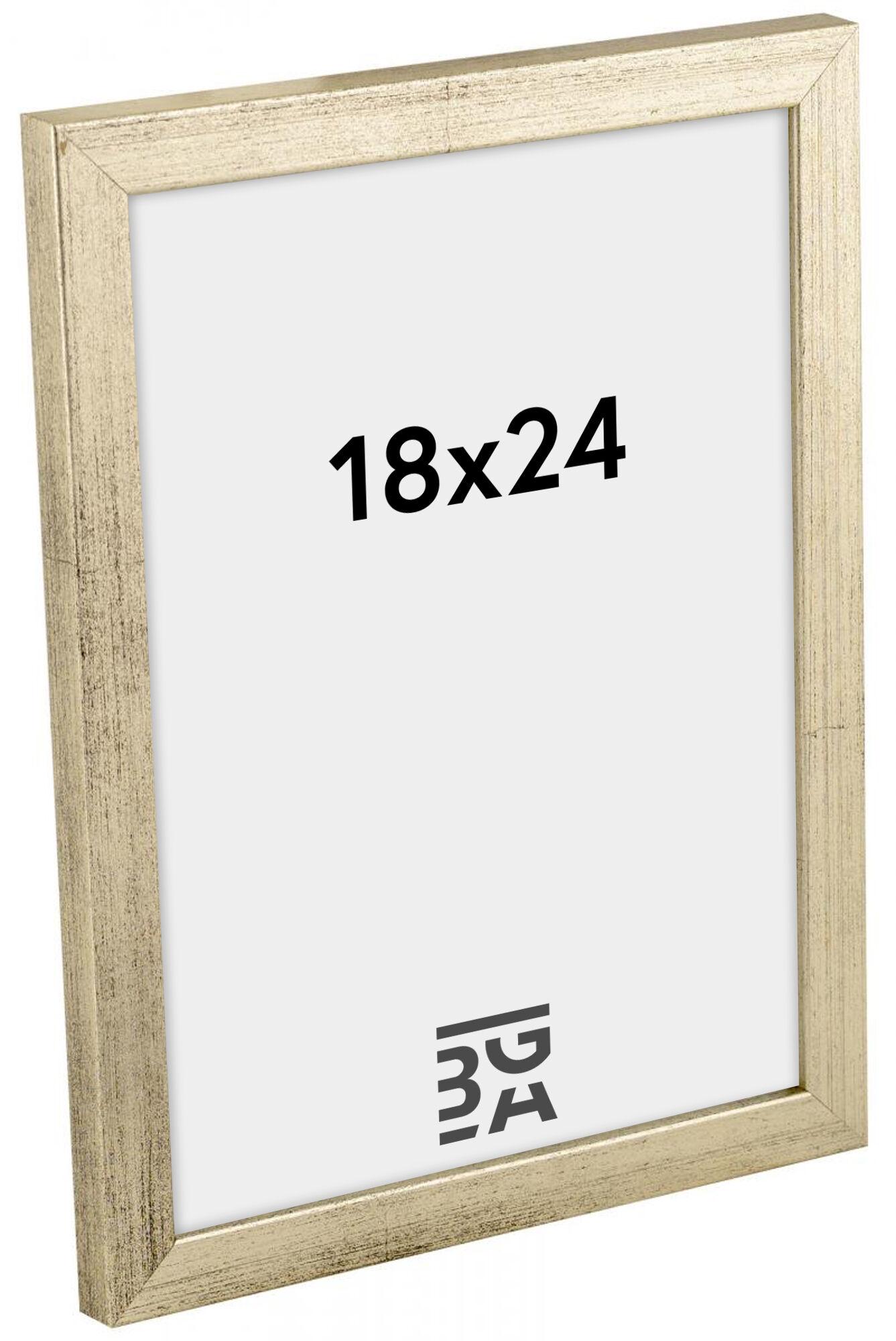 Estancia Galant Hopeanvärinen 18x24 cm