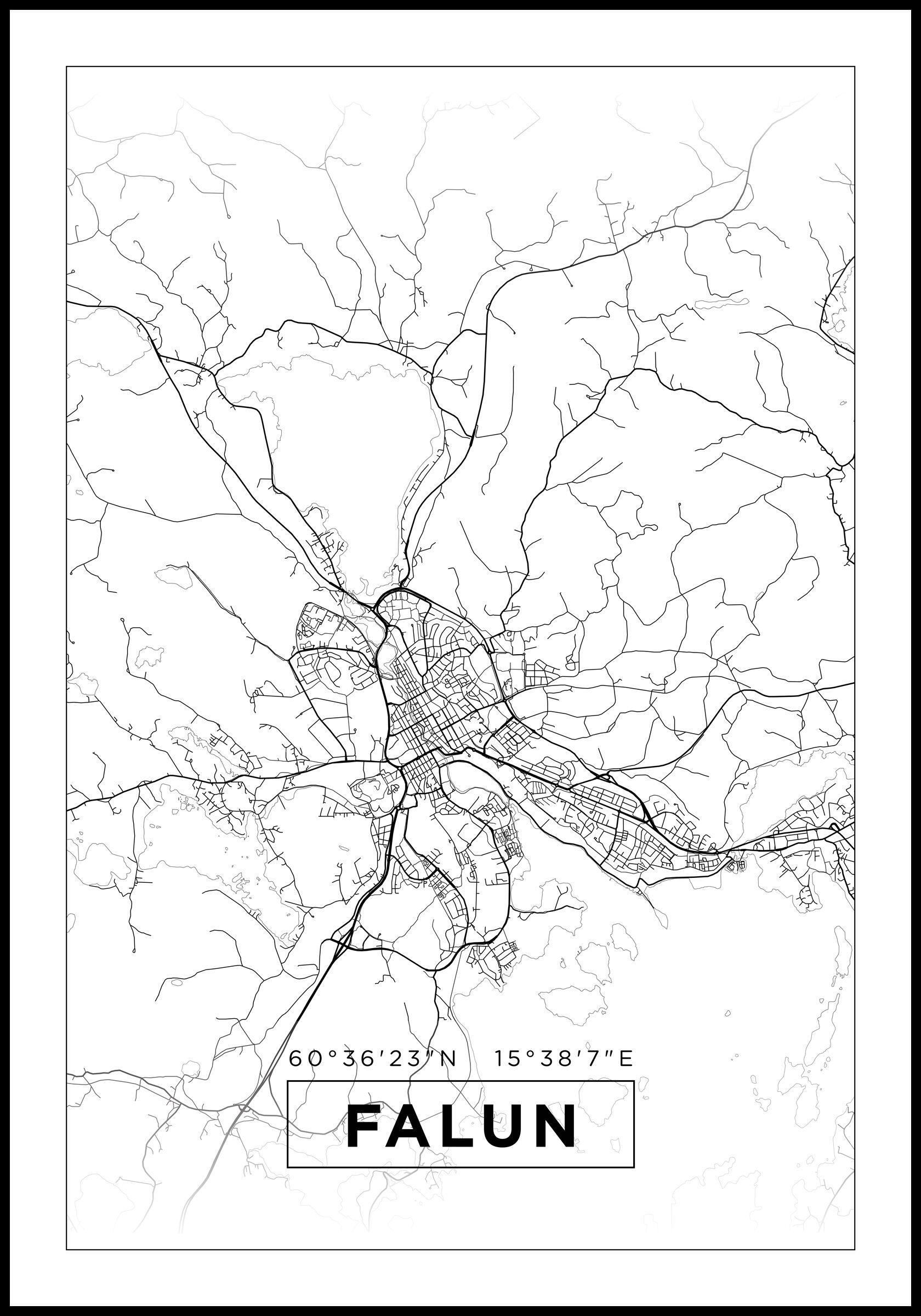Bildverkstad Map - Falun - White