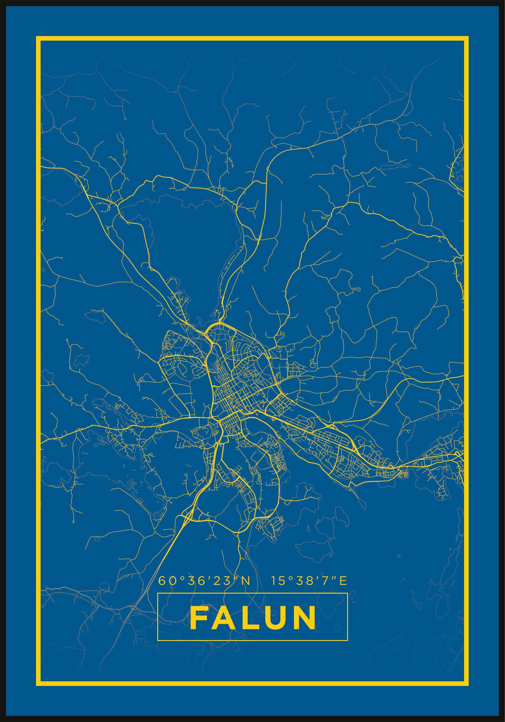 Bildverkstad Map - Falun - Blue
