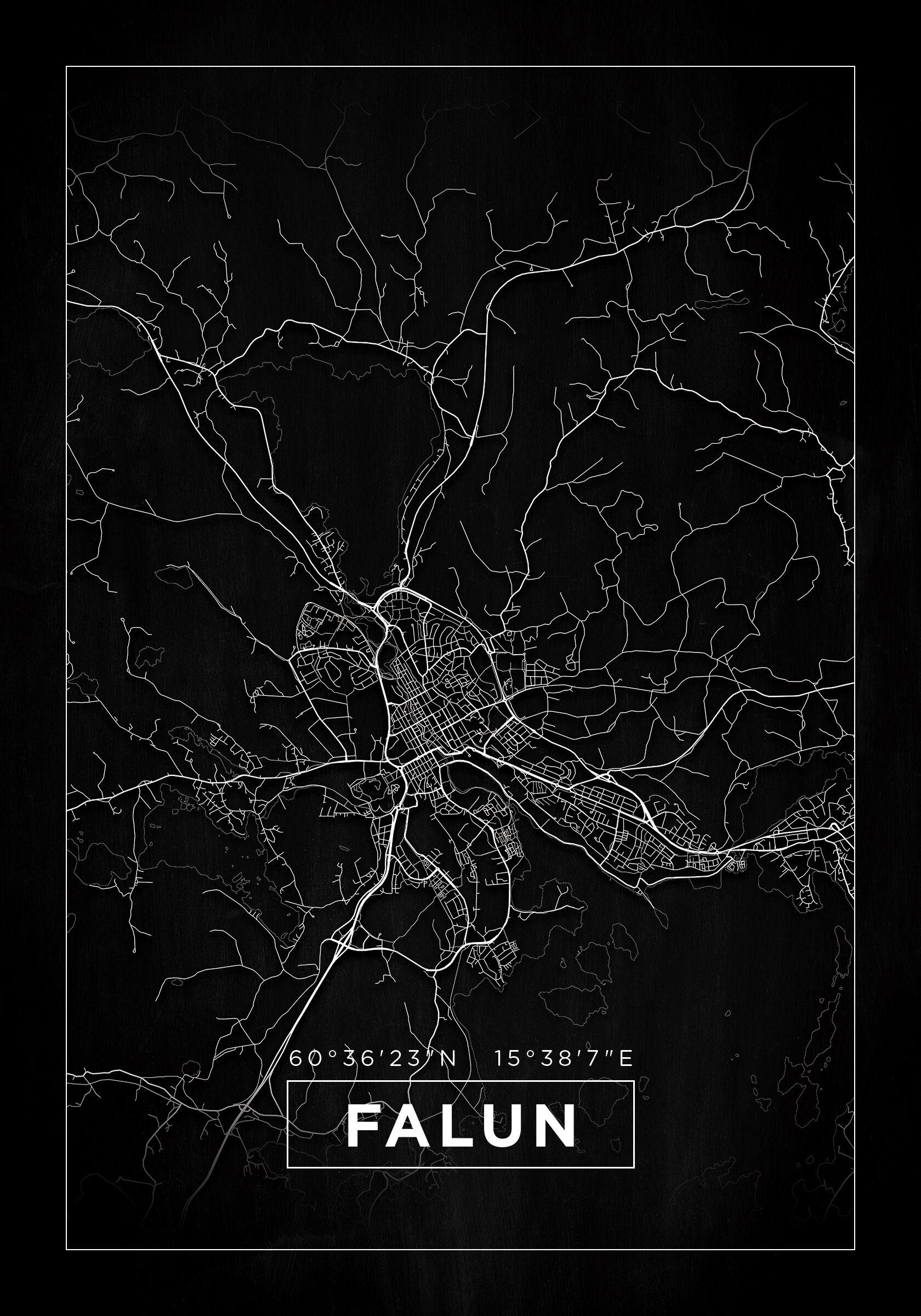 Bildverkstad Map - Falun - Black