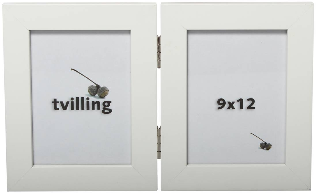 Hagmuren Valkoinen Taittokehys 2 kuvalle 13x18 cm