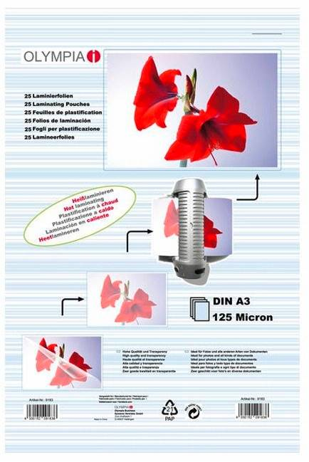 Difox Olympia Laminaatti DIN A3 125 Micron - 25 kpl