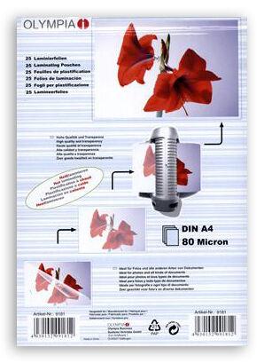 Difox Olympia Laminaatti DIN A4 80 Micron - 25 kpl