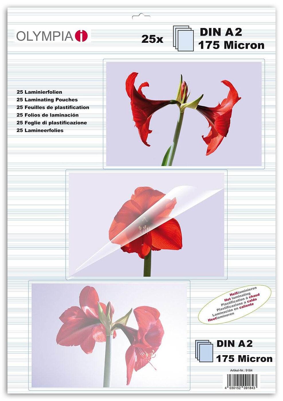 Difox Olympia Laminaatti DIN A2 175 Micron - 25 kpl