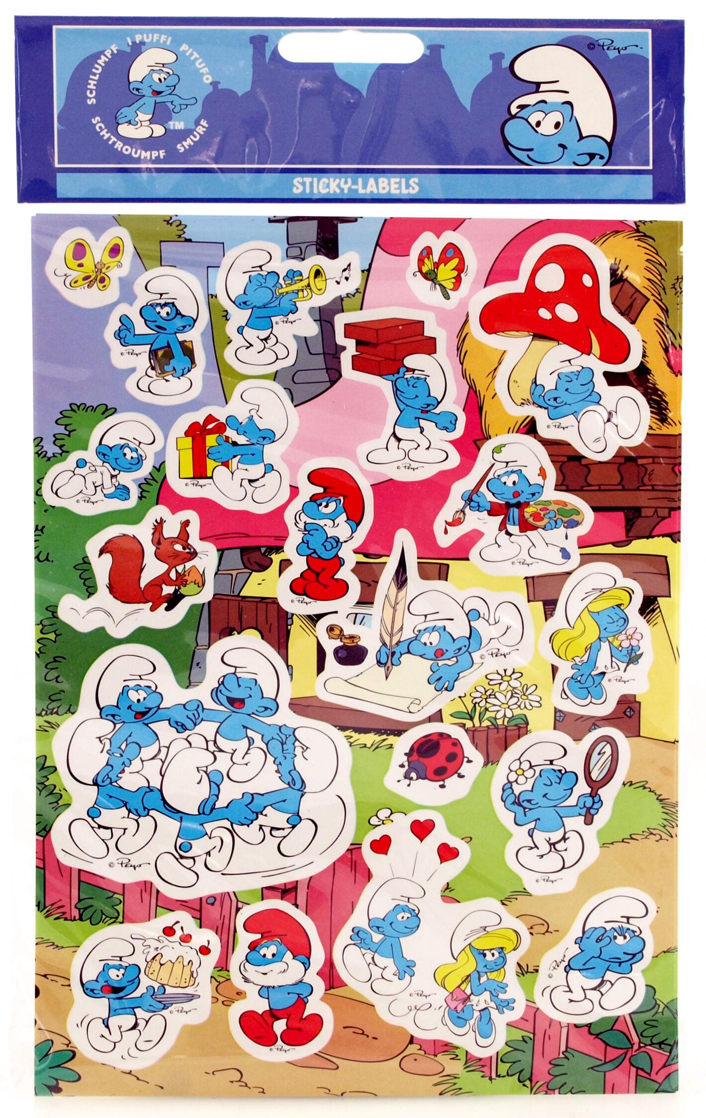 Dynäs Stickers Smurffit 2 Arkkia (15x20 cm)