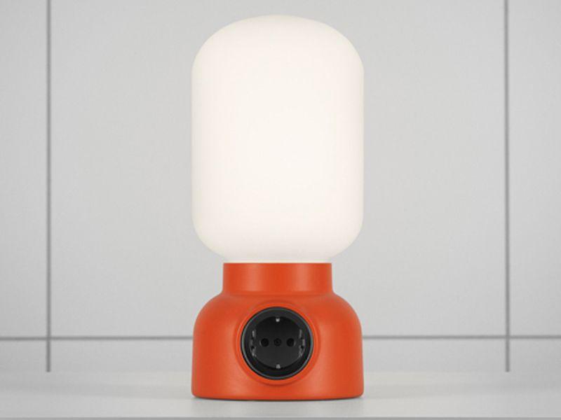 Atelje Lyktan Plug Lamp Orange/Red