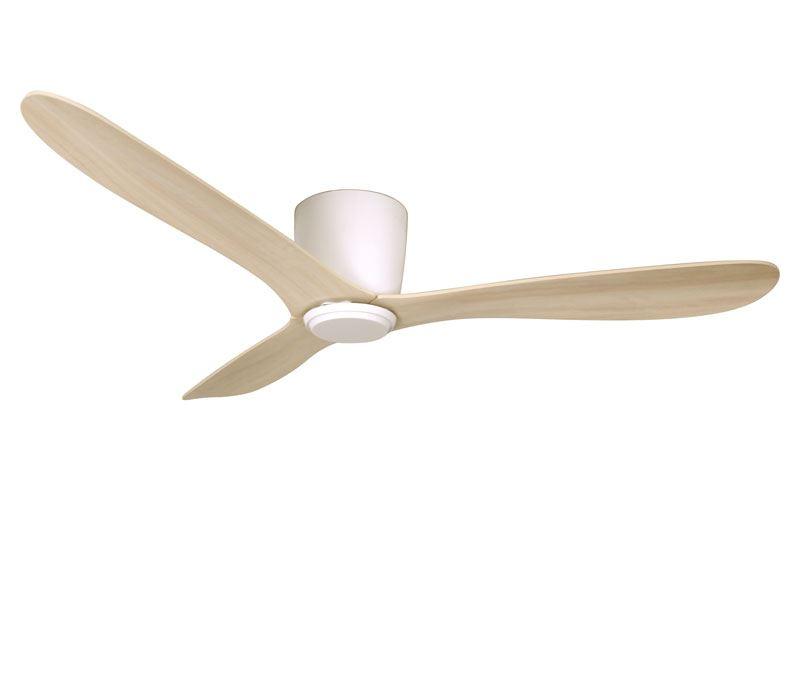 Texa Design Cetus Valkoinen/Tammi 132cm Kattotuuletin