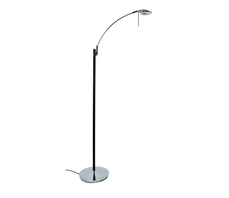 Texa Design Toreno Musta/Kromi LED Lattialukuvalaisin