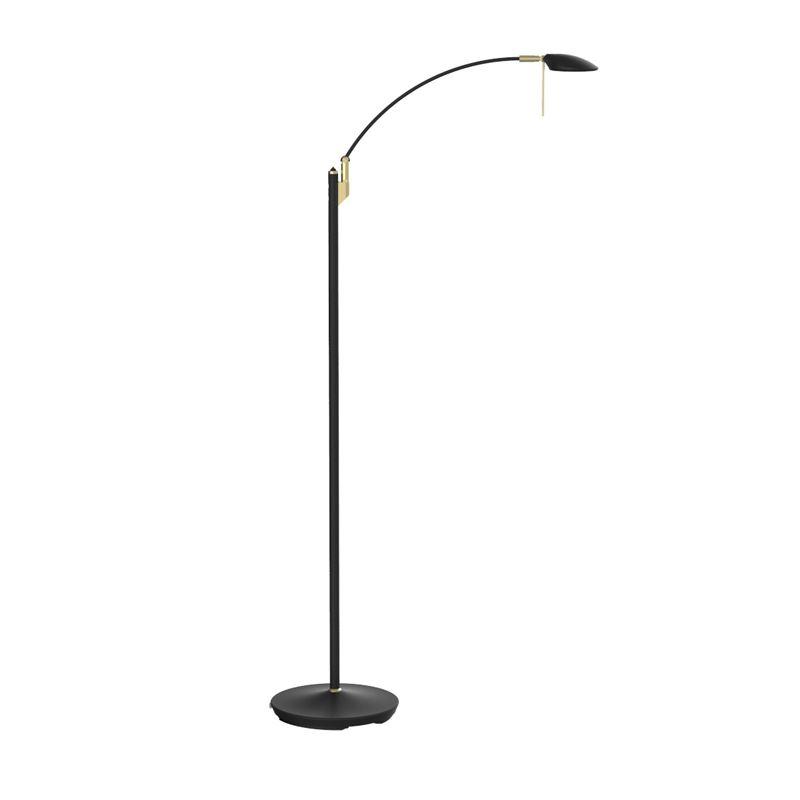 Texa Design Toreno Musta/Messinki LED Lattialukuvalaisin