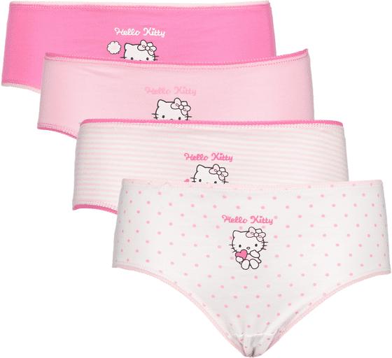 Hello Kitty So 4-p Pantie Jr Alusvaatteet PINK AOP  - PINK AOP - Size: 86-92