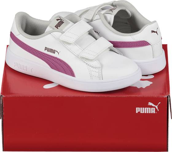 Puma So Smash V2 L Jr Tennarit WHITE/PURPLE (Sizes: UK 12C)