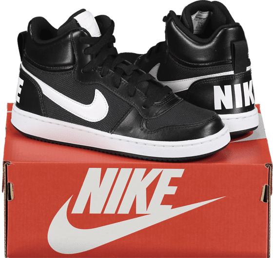 Image of Nike So Court Borough Mid Gs Tennarit BLACK/WHITE (Sizes: US 6)