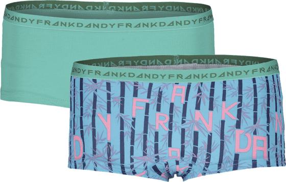 Frank Dandy So L 2-p Boxer W Alusvaatteet GREEN/BLUE (Sizes: XL)