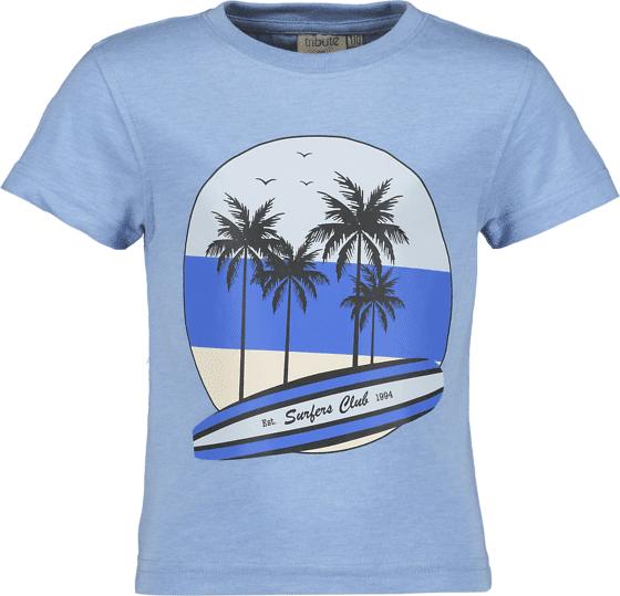 Tribute So Print Tee B Jr T-paidat & topit SURF BLUE MELANGE (Sizes: 140)