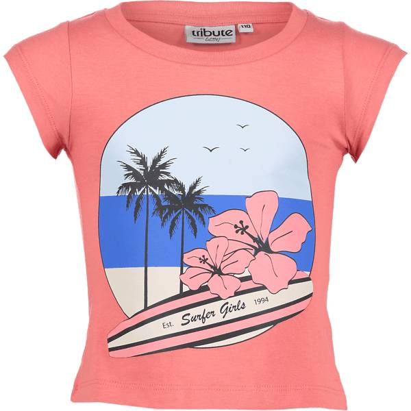 Tribute So Print Tee G Jr T-paidat & topit SURF CORAL (Sizes: 160)