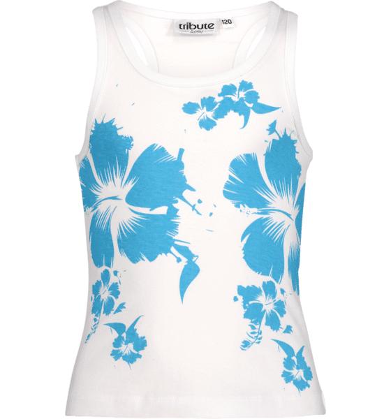 Tribute So Sum Singlet Jr T-paidat & topit TURQUISE FLOWER (Sizes: 110)