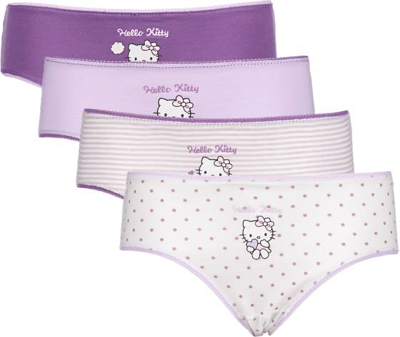 Image of Hello Kitty So 4-p Pantie Jr Alusvaatteet LILAC AOP - LILAC AOP - Size: 86-92
