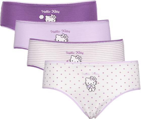 Hello Kitty So 4-p Pantie Jr Alusvaatteet LILAC AOP  - LILAC AOP - Size: 98-104