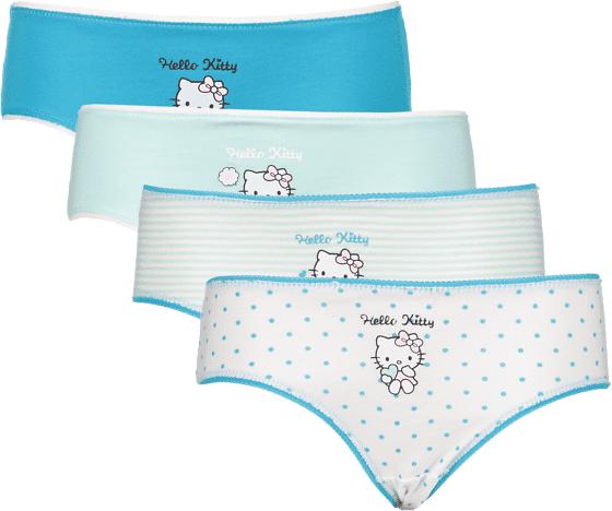 Hello Kitty So 4-p Pantie Jr Alusvaatteet TURQUISE AOP  - TURQUISE AOP - Size: 110-116