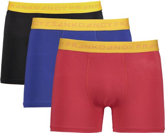 Image of Frank Dandy So 3-p Boxer M Alusvaatteet BLK/NAVY/RED (Sizes: S)
