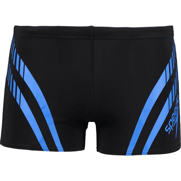 Speedo So Sport Panel S M Uima-asut BLACK/NEON BLUE (Sizes: S)