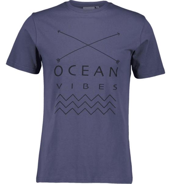 Image of Tribute So Print Tee M T-paidat OCEAN BLUE  - OCEAN BLUE - Size: Small