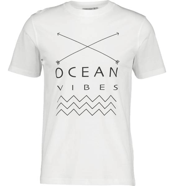 Image of Tribute So Print Tee M T-paidat OCEAN WHITE  - OCEAN WHITE - Size: Large