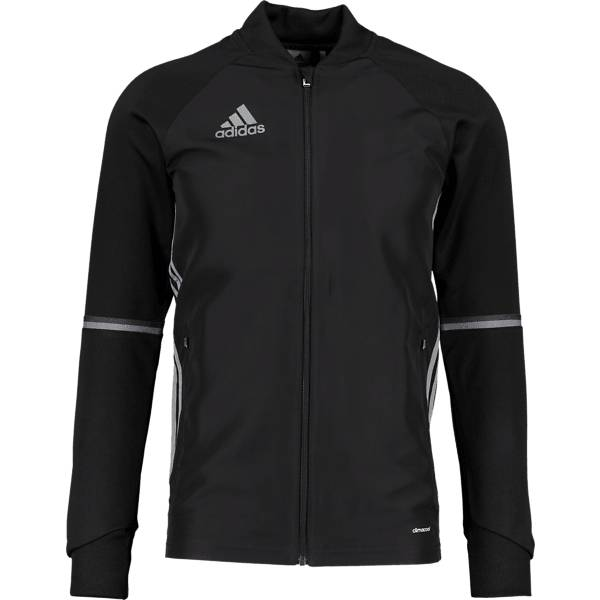 Image of Adidas So Con16 Trg Jkt M Treeni BLACK/VISGRE  - BLACK/VISGRE - Size: Medium