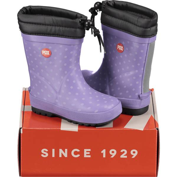 Image of Pax So River Winter Ii Varsikengät & saappaat LILAC DOTS/BLACK (Sizes: 24)
