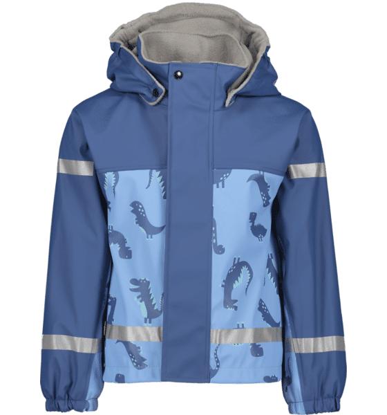 Image of Pax So Pu Lined Jacket Jr Sadevaatteet BLUE DINOSAUR (Sizes: 86-92)