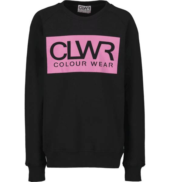 Colour Wear So Clwr Crew Jr Yläosat BLACK/PINK (Sizes: 130)