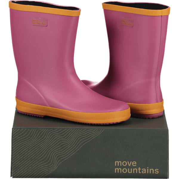 Image of Move Mountains So Molde Rubber Jr Varsikengät & saappaat PINK/ORANGE (Sizes: 24)