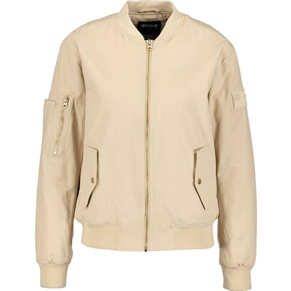Svea So Nancy Bomber W Takit BEIGE  - BEIGE - Size: Medium