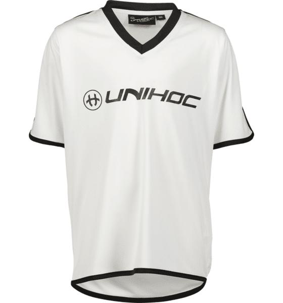 Image of Unihoc So London Shirt Jr Treeni WHITE/BLACK  - WHITE/BLACK - Size: 160-170