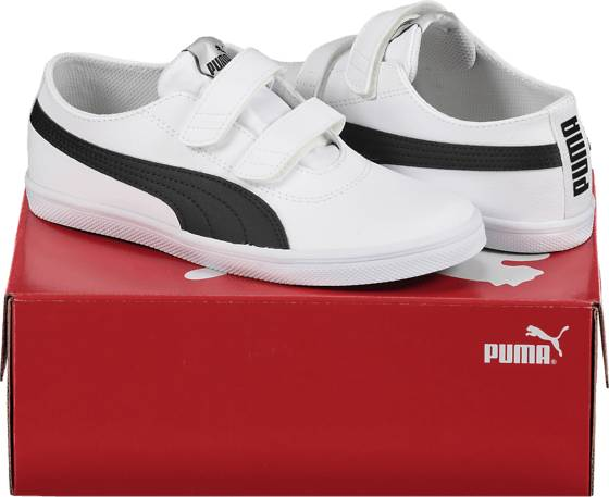 Image of Puma So Urban Sl V Jr Varsikengät & saappaat WHITE/BLACK (Sizes: 2.5)