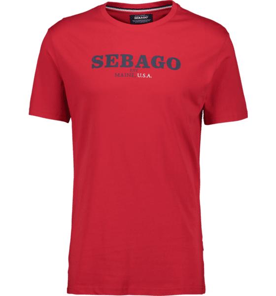 Image of Sebago So Log Tee M T-paidat RED - RED - Size: Medium