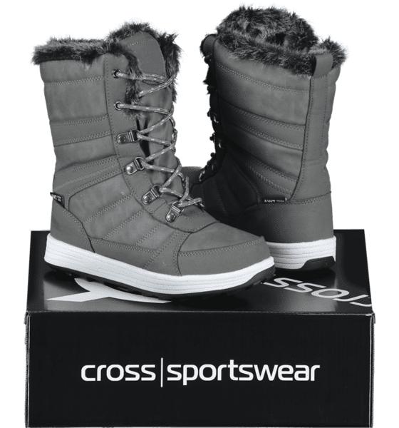 Image of Cross Sportswear So Bergen High Jr Varsikengät & saappaat GREY/WHITE (Sizes: 35)