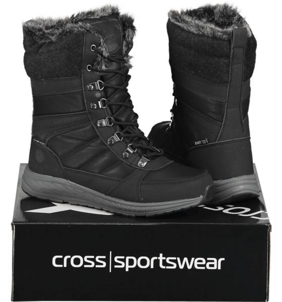 Image of Cross Sportswear So Bergen Hi W Varsikengät & saappaat BLACK/GREY (Sizes: 40)