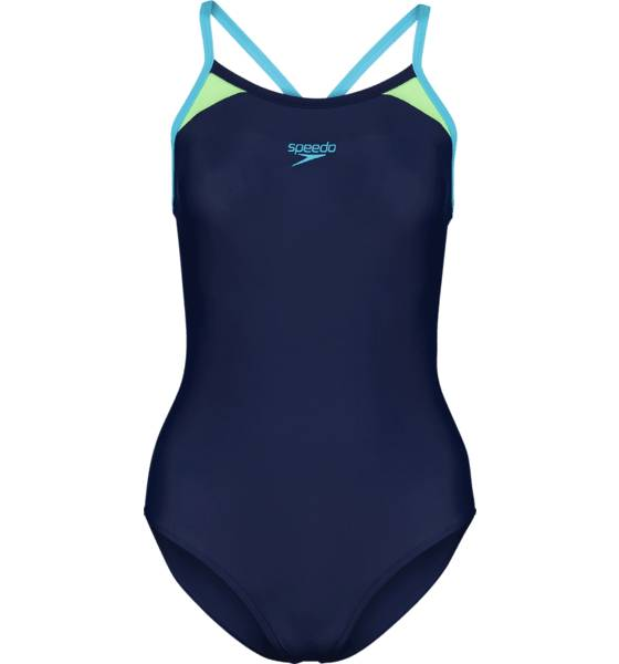 Speedo So Splice Race W Bikinit & Uimapuvut NAVY/AQUASPLASH  - NAVY/AQUASPLASH - Size: 36