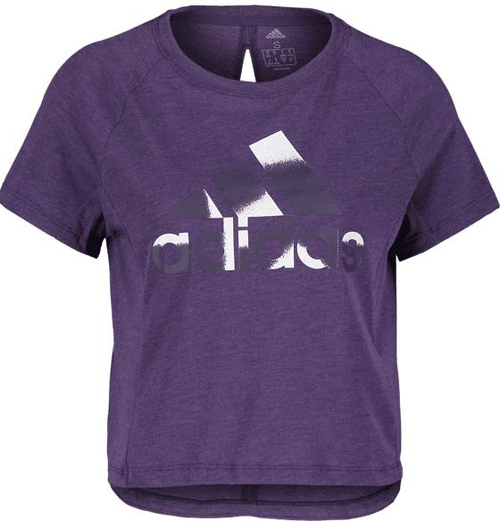 Image of Adidas So Boxy Bos Tee W Treeni LEGEND PURPLE  - LEGEND PURPLE - Size: Extra Small