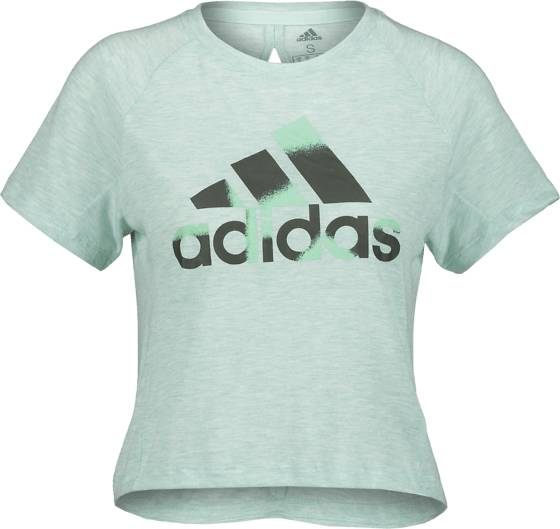 Image of Adidas So Boxy Bos Tee W Treeni MINT MELANGE - MINT MELANGE - Size: Extra Small