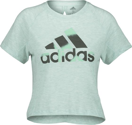 Image of Adidas So Boxy Bos Tee W Treeni MINT MELANGE  - MINT MELANGE - Size: Small